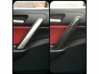 Honda Civic Type R Ep3 Carbon Fibre Interior Door Handle Covers - Mint & New