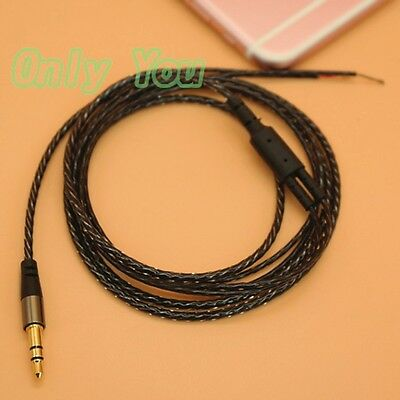 3.5mm Earphone Audio Cable w// Mic Headphone Repair Replacement Wire 120cm AA0185