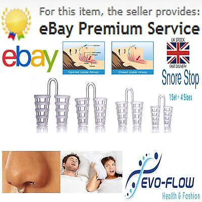 *4 Stop Snoring Anti Snoring Devices. Breathe Easy NASAL DILATORS Rapid Delivery