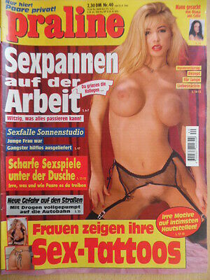 PRALINE 40 - 25.9. 1997 Freizeit- & Erotikmagazin Sex-Tattoos