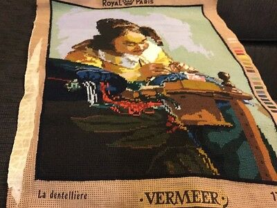 UNFRAMED COMPLETED TAPESTRY, Dutch artist VERMEER (Old Masters)