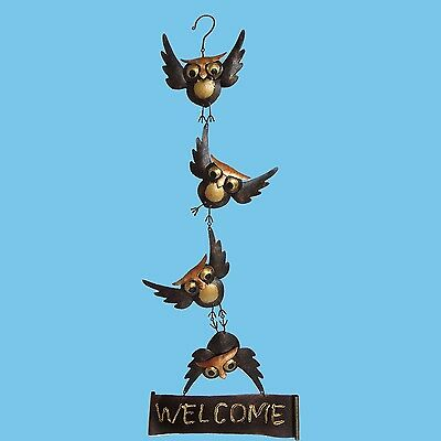 Hanging Owls Welcome Sign