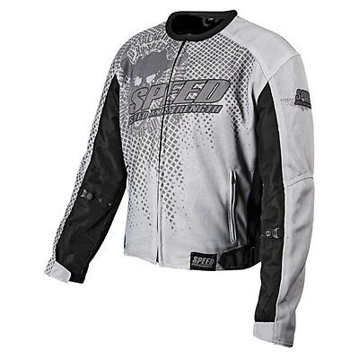 Speed And Strength Run With Bulls Mesh Motorcycle Jacket Street Riding Gray Lg