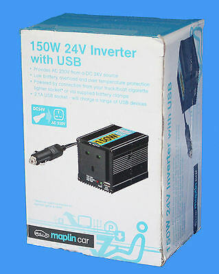 MAPLIN  24V Modified Sinewave 150W INVERTER WITH USB