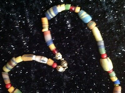 """West African trade beads an 18"""" necklace for men or women on Valentines Day"""