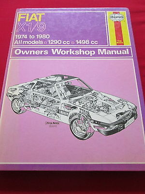 Fiat X1/9  - Haynes Owners Workshop Manual 1974 To 1980 All Models
