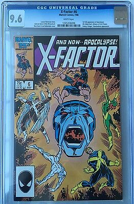 X-Factor # 6 1st Apocalypse Marvel CGC 9.6 White Pages