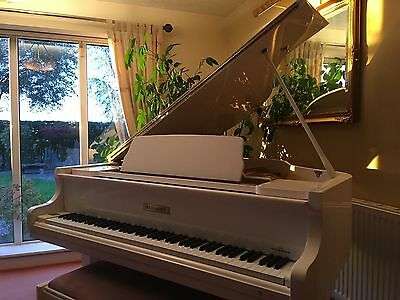 Reid-Sohn White Baby Grand piano