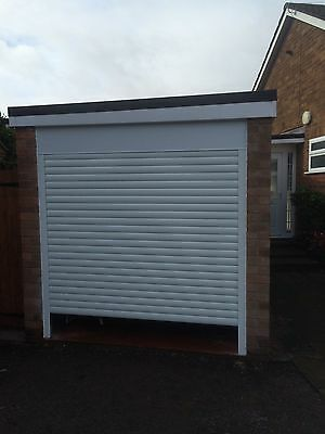 Fully fitted insulated electric roller door CE marked