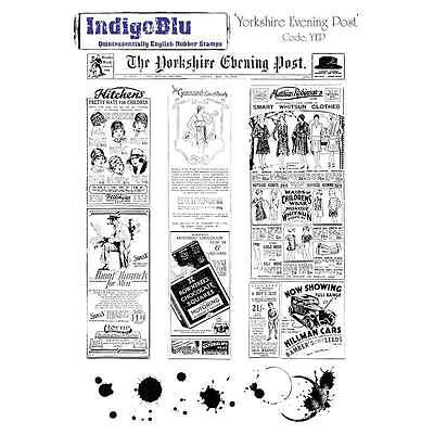 IndigoBlu Cling Mounted Stamp 9 Inch X 6.5 Inch-Yorkshire Evening  608641990058