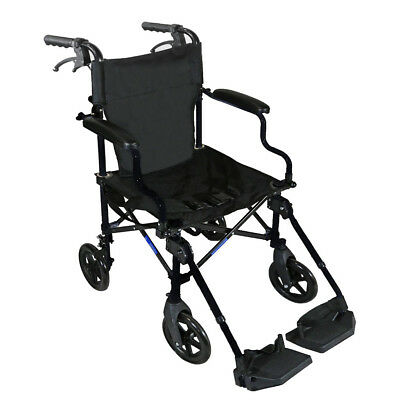 "Clevr Medical Aluminum Transport Chair Wheelchair , 19"", Black"