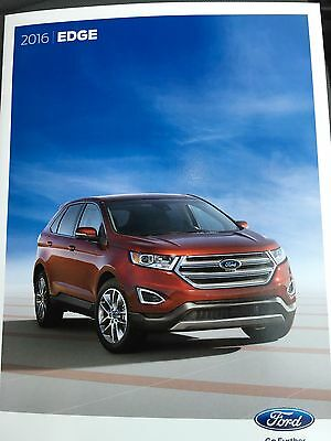 2016 Ford Edge 28-page Original Sales Brochure