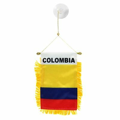 COLOMBIA Mini Banner Flag Great For Car & Home Window Mirror Hanging 2 Sided