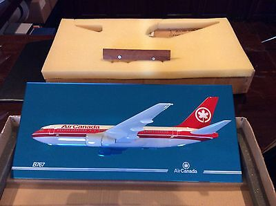 "New Space Models England Air Canada Boeing 767 Mirror Frame 1/100 Scale 22"" Long"