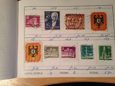 Club Approval Booklet Germany mint & used stamps from early Berlin many TOP vals