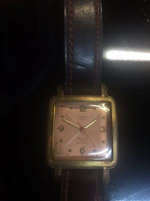 Berg Parat Ancre 17 Rubis Antichoc wrist watch Antique authentic Gold Plated
