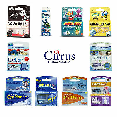 Cirrus Healthcare Ear Plugs - AquaEars BioEars ClearEars EarPlanes MigraineX