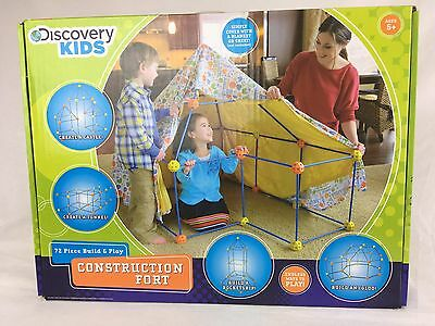 DISCOVERY KIDS Construction Fort Tent Build & Play Construction Fort