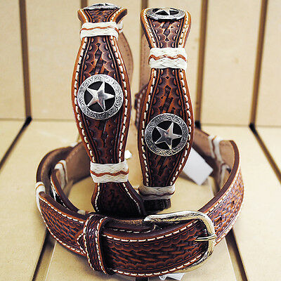 """30"""" Justin Iron Scallop Tooled Western Leather Mans Belt Brown With Concho"""