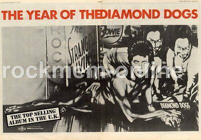 David Bowie The Year Of The Diamond Dogs APLI 0576 MM4 LP/Tour Advert 1974