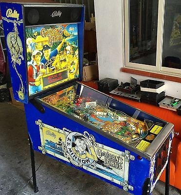 PINBALL Bally Gilligan's Insland 1991 - FULL LED CONVERSION - SPECTACULAR - USED