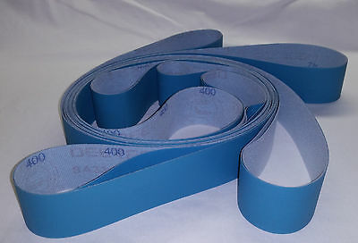 "2""x72"" Sanding Belts Micron Variety Pack 400 800 1200 2000 2 each (8pcs)"