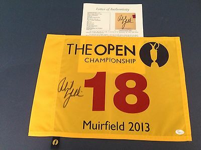 Phil Mickelson Signed Authenic 2013 Open Championship Flag, JSA/LOA, Free Ship!