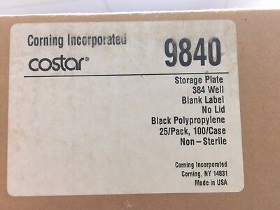 Corning Costar Storage plate 384 well Blank Label No lid 9840 100/Case