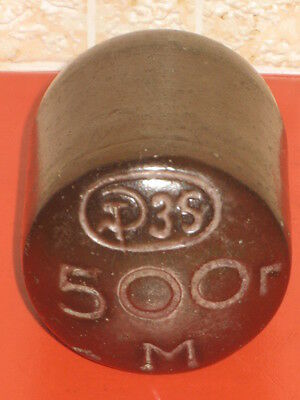 Vintage CCCP WEIGHT with SICKLE and HAMMER 500g 1935 Ceramic Old Russian Soviet