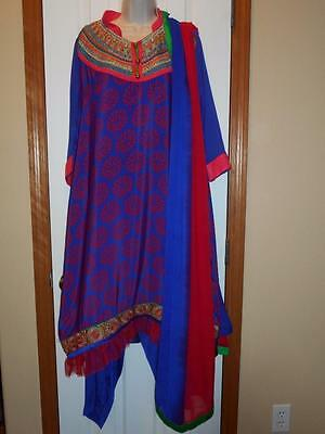 "nwot! BUST 22"" / 44"" vipul designer indian pakistani  READY MADE SALWAR KAMEEZ"