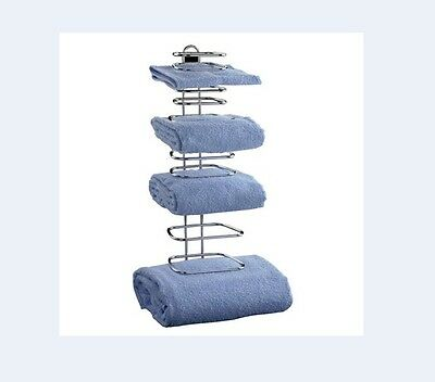 Taymor 01-1064 GUEST TOWEL HOLDER holds 4 sets of towels magazine rack storage