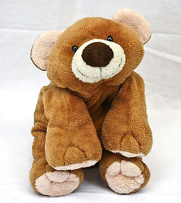 "Ty Pluffies Brown Teddy Bear Slumbers 9"" Plush Stuffed Animal Baby Lovey 2002"