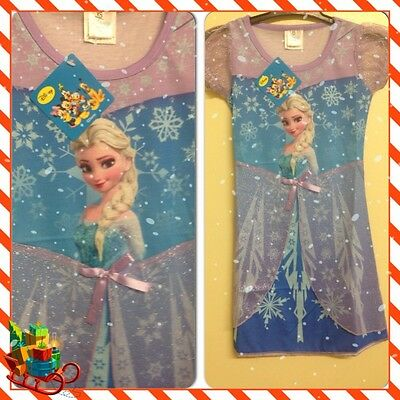 BNWT Girls Disney Frozen ELSA~ANNA Nightie 3-11 Cape Night Dress Costume