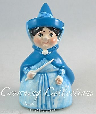 Disney Merryweather Blue Fairy Figurine Sleeping Beauty Ceramic Japan Vintage