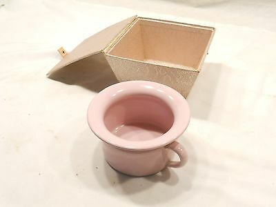 Vintage Enamel Childs Chamber Pot, Pink, With Case