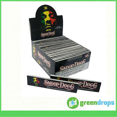 1 3 5 10 25 50 Snoop Dogg King Size Slim Cigarette Smoking Rolling Papers Raw