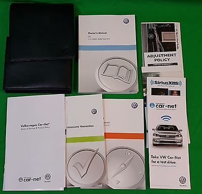 2014 Volkswagen CC Owners Manual, Car-net Manual, Set With Case
