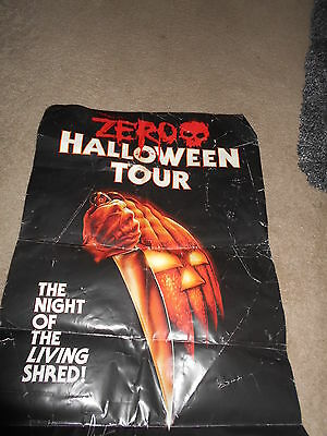 Very Rare Vintage Zero Night Of The Living Shread Halloween Poster Signed