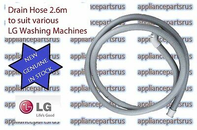 LG Washing Machine Drain Hose 2.6 Metres Part 5214FR3188G NEW GENUINE IN STOCK