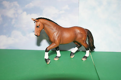 Hanoverian Brown Mare Dressed Horse from Schleich 2004