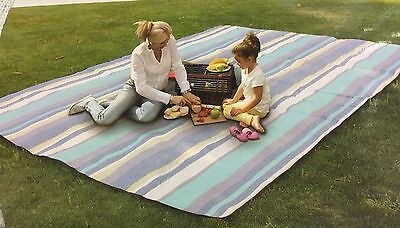 Extra Large Travel Rug Outdoor Beach BBQWaterproof Moistureproof Picnic 3m X 2m