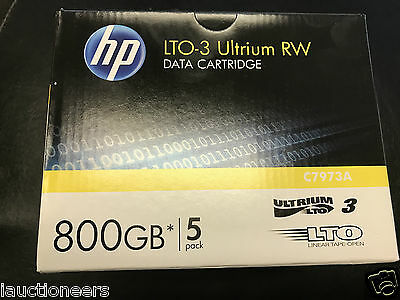 HP Ultrium RW / Data Cartridge / C7973A / PACK OF 5 / LTO3 800GB / NEW SEALED