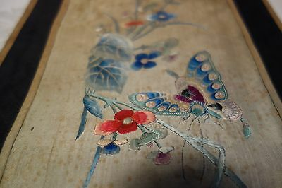 Superb Antique 1800 Chinese Silk Embroidery Panel