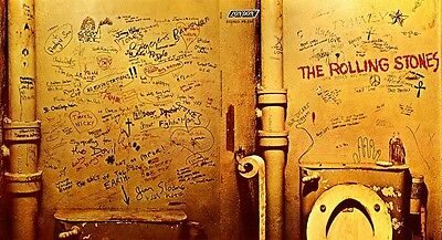 Rolling Stones Beggars Banquet Bathroom POSTER Rare