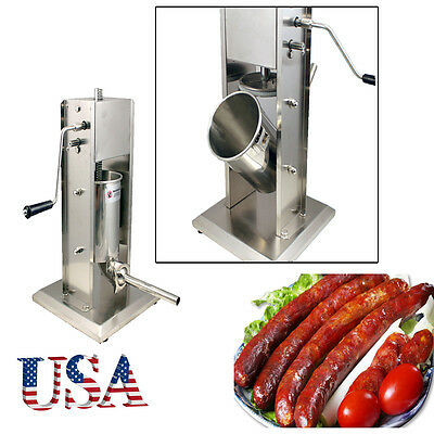 Meat Filler maker Sausage Stuffer Vertical Stainless Steel 5L/11LB 11 Pound easy