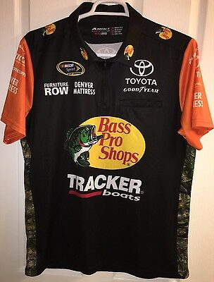 2016 MARTIN TRUEX Bass Pro Fishing Furniture Row Pit Crew Shirt Toyota Nascar 78