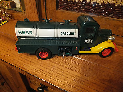 Vintage 1980 First Hess Truck Gasoline Tanker Truck Bank w/ RED Switch