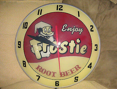 Frosty Root Beer Double Bubble Clock NIB