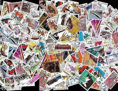 Lot x 200 Different World Topical , Colourful Stamps for Collection