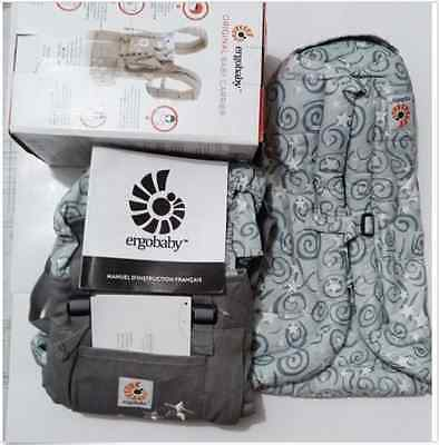 New ERGO Original Baby Carrier Galaxy Grey with Gray Infant Insert.